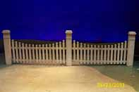 Laurey's farm US picket fence, 2 units